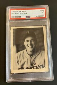 PSA 3 1939 Play Ball #142 Ira Hutchinson Card Brooklyn Dodgers NO RESERVE