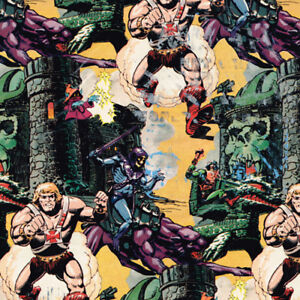HE-MAN VINTAGE 1984 GIFT WRAP (2 sheets, 8.3 sq. ft) ~ Birthday Party Supplies