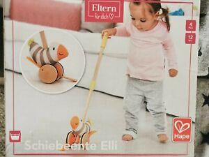 Schiebeente Elli Zieh Ente Schiebe Tier Spielzeug Baby hape holz