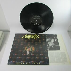 Anthrax Among The Living Megaforce Worldwide Island Records 90584-1 1987 Album