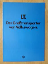 VOLKSWAGEN LT COMMERCIALS Range 1978 German Mkt Sales Brochure Prospekt - VW