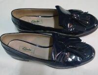 scarpe donna Clarks vera pelle verniciata misura 41,5