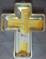 Wilton Aluminum Cross Cake Pan & Instructions 2105-2509 1st Communion Easter