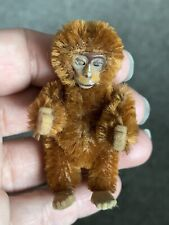 Antique Miniature Schuco Tiny Jointed 2.5� Cinnamon Mohair Monkey Nice Nr !