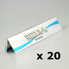 Rizla Micron Silver Thin Slim Kingsize Rolling Papers Booklets x 20  Ultra Thin