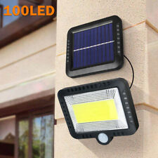 100 LED Solarleuchte Solarlampe mit Bewegungsmelder Außen Fluter Wandstrahler.