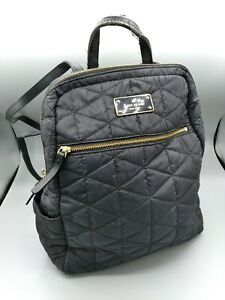 Kate Spade Black Quilted Mini Backpack AS IS