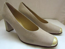 BALLY CREAM BLOCK HEEL COURT SHOES SIZE UK 6.5 CRUISE-MOTHER OF THE BRIDE