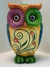 "Urban Designs Classic 10"" Table Top OWL Decorative Colorful Figurine Home Decor"
