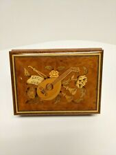 Sorrento Lyre Music Box Swiss Musical Movement Made In Italy
