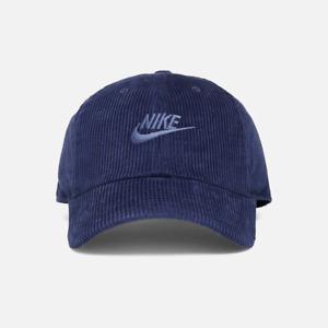 Nike Sportswear Heritage 86 Futura Corduroy Cap Midnight Navy Hat DC4015-410