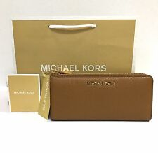 Michael Kors * Bedford 3 Quarter Zip Leather Wallet in Acorn COD PayPal