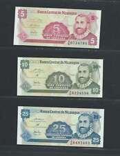 Nicaragua  Lot de 3 billets différents  en état NEUF Lot Numéro 1