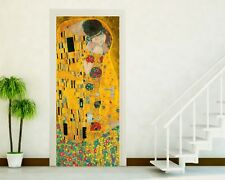 ADESIVI PORTE ADESIVO PORTA WALL STICKERS DECORAZIONE CASA klimt the kiss P14