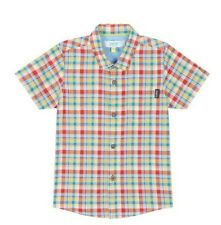 Ted Baker Baby Boy Shirt Checked Blue Green Designer Gift Newborn 0-3 Months