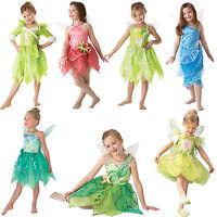 Official Disney Tinkerbell Pixie Fairies New Fancy Dress Kids Childs Costume