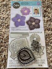 "Sizzix David Tutera Framelits w/ Stamps ""Lace Flower"" New 663130"