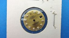 Genuine Vintage Rolex Ladies Factory Champagne Diamond Dial New Settings