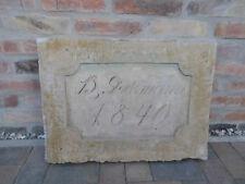 alter Sandstein Einfassung Mauerwerk Ziertafel Zierstein B.Glockmann 1840