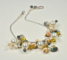 Lemond Quartz, Pearl and Shell Necklace