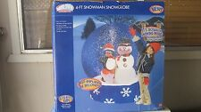 GEMMY AIRBLOWN Inflatable 4 FT ANIMATED Christmas SNOWGLOBE **UNOPENED** NEW**