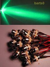 10 10mm Grün Grüne LEDs LED 33.000mcd Chromfassung 12-15Volt 12V V LEDSCHRAUBE