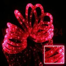 LED Lichterschlauch Lichtschlauch rot red transparent für außen 2 - 50 meter