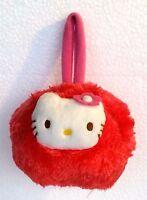 Peluche Borsetta tonda rossa Hello Kitty - con cerniera - cm. 18x14 - Sanrio