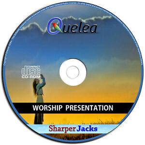 NEW & Fast Ship! Quelea Church Worship Presentation Bible Software - PC Disc