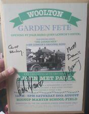 More details for the quarrymen the beatles john lennon programme genuine signed autograph   rare