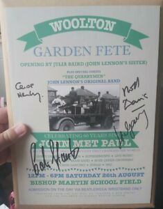 The Quarrymen The Beatles John Lennon Programme Genuine Signed Autograph   Rare