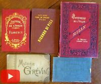 Italy Tourism Travel books c. 1880's lot with 66 nice early views photos Italia