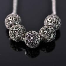 10pcs 12mm Tibetan Silver European Charm Loose Hollow Metal Big Hold Beads 19#