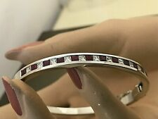 3CTW RUBY NATURAL DIAMOND HIGH QUALITY 18CT YELLOW GOLD BANGLE BRACELET SPECIAL