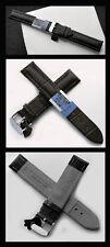 - Vera Pelle Bracciale orologi 24 mm, acciaio daccordo,... imitazioni Nero Inciso Nuovo