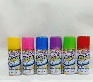 Silly Strings Can assorted Colour Party Colorful Spray Kids Fun x6