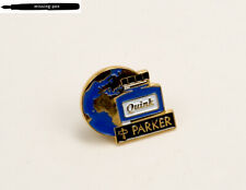 Rare Parker Earth Quink Pin / Brooch in Blue