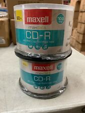 Maxell CD-R Discs, 700MB/80min, 48x, Silver, 2-50/Pack 100 Disc
