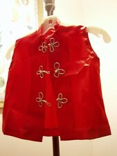 50s Vintage Red Satin Asian Dance Theater Costume