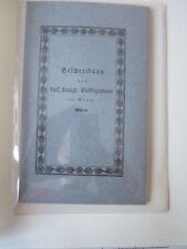 Wien Archiv Edition 1030 Broschüre k.k. Volksgarten 1824 Karl E Reinold