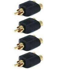 5 Pcs RCA Y Splitter 1 Male Plug to 2 Female Jack Adapter Audio Cable Converter