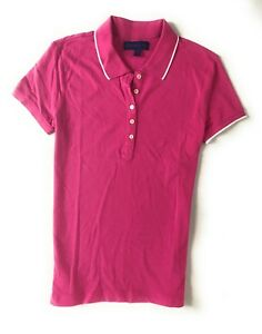 Aeropostale Women's  Solid Color Polo Shirt  With A87 Logo