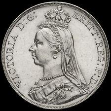 1889 Queen Victoria Jubilee Head Silver Crown, EF