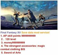 Final Fantasy 15 ,  mod save data service! For PS5 & PS4 & PC!