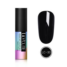 LILYCUTE 5ml  Tips Soak Off UV Gel Nail Polish Black  Gel Varnish