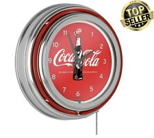 11.75 inches Cans Style Coca-Cola Wall Clock with Chrome Finish