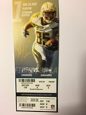 LOS ANGELES CHARGERS VS SEATTLE SEAHAWKS AUGUST 13, 2017 1st game TICKETSTUB