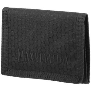 Maxpedition AGR Tri Fold Wallet Slim Mens Hex Ripstop Nylon Security Pouch Black