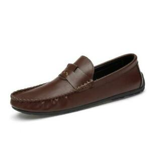 Mens Faux Leather Loafers Shoes Soft Driving Moccasins Comfy Breathable Casual