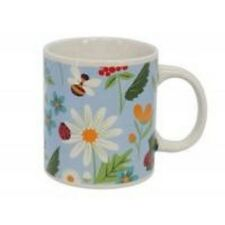 Gisela Graham Kitchen Garden Ceramic Mug Flowers Bees Tea Coffee 35846